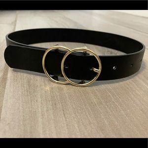 Girls Belt. Black & Gold